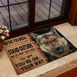 Wolf Doormat Before You Break Into My House Stand Outside