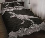 T Rex Dinosaur Mandala Quilt Set