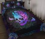 Skull Rose Mandala Quilt Set