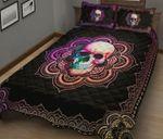 Skull Rainbow Mandala Quilt Set