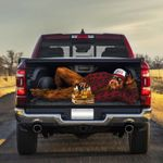 USA Gorilla Lying With Books And Beer Car Back Sticker