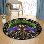 Celtic Tree Circle Rug As Above So Below As Within So Without