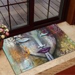 Painting Girl Praying Doormat
