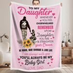 Gift For Daughter From Dad Sherpa Blanket You'll Always Be My Baby Girl