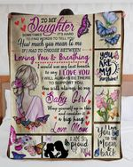 Gift For Daughter From Mom Butterfly Girl Blanket Sometimes It's Hard