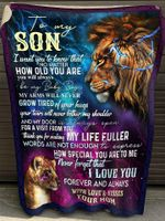 Gift For Son From Mom Lion Blanket I Want You To Know That