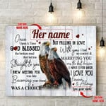 Personalized Gift For Couple Eagle Canvas Wall Art Once Apon A Time
