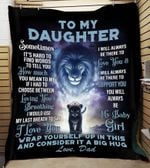 Gift For Daughter From Mom Lion Blanket Sometimes It's Hard