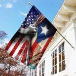 Puerto Rico American House Flag