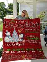Christmas Gift For Daughter From Mom Snowman Blanket Whenever You Feel