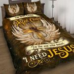 Christian Cross Wings Quilt Set I'm Not That Perfect Christian