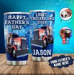 Personalized Father's Day Gift For Dad Trucker Tumbler Best Trucker Dad Ever