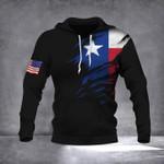 Texas American Flag 3D Hoodie
