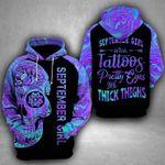 Skull Girl 3D Hoodie September Girl With Tattoos