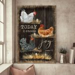 Chicken Hens Jesus Canvas Wall Art Today I Choose Joy