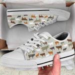 Cow Farm Pattern Low Top Shoes