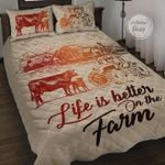 Farm Life Cow Quilt Set Life Is Better On The Farm