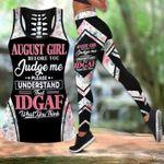 Roses Girl Tank Top & Leggings August Girl Before You Judge Me