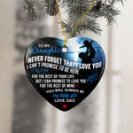 Gift For Daughter From Dad Christmas Ornament