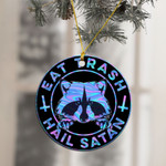 Raccon Eat trash Hail Satan Ornament
