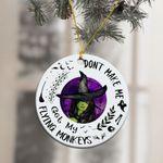 My Flying Monkeys Witch Ornament