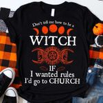Witch Church Halloween Tshirt