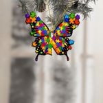 Autism Awareness Butterfly Ornament