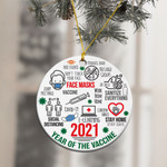 2021 Christmas Year Of The Vaccine Ornament