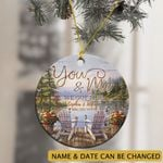 Personalized You And Me We Got This Humming Bird Lake Ornament