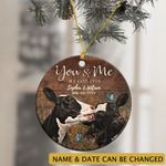 Personalized You And Me We Got This Cow Ornament