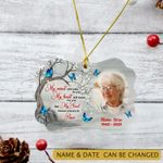 Personalized Memorial Gift Butterfly Ornament