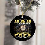 Being A Papa Is Priceless Black Lion Ornament