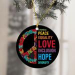 Hippie Peace Hope Love Ornament