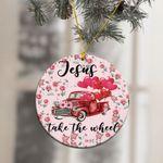 Jesus Take The Wheel Rec Truck Balloon Ornament