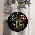 One Nation Under God American Flag Ornament