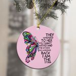 Butterfly I Am The Storm Strong Girl Ornament