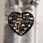 Cows Love Heart Ornament