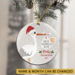 Personalized Pregnancy Baby Announcement Ornament