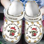 Personalized Baby Yoda Best Daughter Christmas Crocs Classic Clogs Shoes