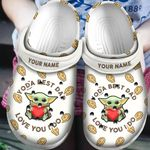 Personalized Baby Yoda Best Dad Christmas Crocs Classic Clogs Shoes