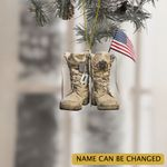 Personalized US Veteran Shoes Christmas Ornament