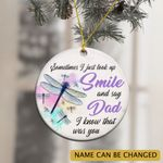 Dragonfly Personalized Memorial Ornament Sometimes I Look Up