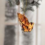Jesus Praying Christmas Ornament
