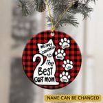 Personalized Best Cat Mom Dad Christmas Ornament