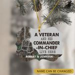 Personalized A Veteran And His Commander-In-Chief Ornament
