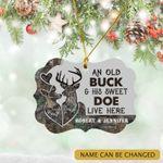Personalized Deer Camo Old Buck Sweet Doe Ornament