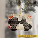 Personalized Pitbull Lover Girl Ornament