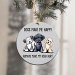 Dogs Make Me Happy Ornament