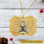 Personalized Yoga Girl Strong Ornament