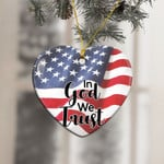 American Flag In God We Trust Ornament